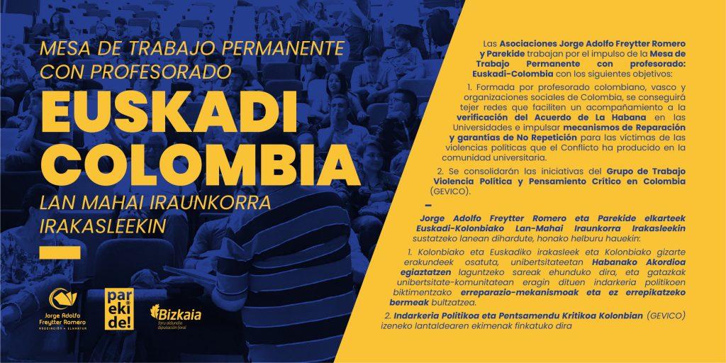 Se constituye la Mesa de Trabajo Permanente de Profesorado vasco y colombiano